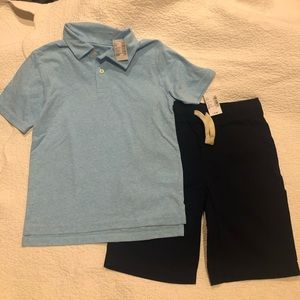 NWTS The Childrens Place boys top & shorts M 7/8